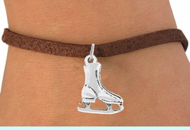 <bR>                 EXCLUSIVELY OURS!!<Br>           AN ALLAN ROBIN DESIGN!!<BR>  CLICK HERE TO SEE 120+ EXCITING<BR>     CHANGES THAT YOU CAN MAKE!<BR>                LEAD & NICKEL FREE!!<BR>   W741SB - SILVER TONE ICE SKATE<Br>     BRACELET FROM $4.50 TO $8.35