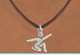 """<bR>                 EXCLUSIVELY OURS!!<Br>           AN ALLAN ROBIN DESIGN!!<BR>  CLICK HERE TO SEE 120+ EXCITING<BR>     CHANGES THAT YOU CAN MAKE!<BR>                LEAD & NICKEL FREE!!<BR>     W743SN - """"FLOOR GYMNAST"""" &<BR>     NECKLACE FROM $4.50 TO $8.35<BR>                              �2008"""