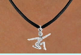 """<bR>                 EXCLUSIVELY OURS!!<Br>           AN ALLAN ROBIN DESIGN!!<BR>  CLICK HERE TO SEE 120+ EXCITING<BR>     CHANGES THAT YOU CAN MAKE!<BR>                LEAD & NICKEL FREE!!<BR>     W743SN - """"FLOOR GYMNAST"""" &<BR>     NECKLACE FROM $4.50 TO $8.35"""