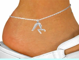 """<bR>               EXCLUSIVELY OURS!!<BR>         AN ALLAN ROBIN DESIGN!!<BR> CLICK HERE TO SEE 120+ EXCITING<BR>    CHANGES THAT YOU CAN MAKE!<BR>               LEAD & NICKEL FREE!!<BR>    W744SAK - """"GYMNAST ON BAR""""<Br>    & ANKLET FROM $4.50 TO $8.35"""