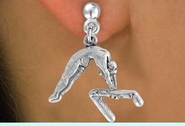 """<bR>                 EXCLUSIVELY OURS!!<Br>           AN ALLAN ROBIN DESIGN!!<BR>  CLICK HERE TO SEE 120+ EXCITING<BR>     CHANGES THAT YOU CAN MAKE!<BR>                LEAD & NICKEL FREE!!<BR>    W744SE - """"GYMNAST ON BAR"""" &<BR>     EARRINGS FROM $4.50 TO $8.35<BR>                           �2008"""