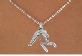 "<bR>                 EXCLUSIVELY OURS!!<Br>           AN ALLAN ROBIN DESIGN!!<BR>  CLICK HERE TO SEE 120+ EXCITING<BR>     CHANGES THAT YOU CAN MAKE!<BR>                LEAD & NICKEL FREE!!<BR>   W744SN - ""GYMNAST ON  BAR"" &<BR>     NECKLACE FROM $4.50 TO $8.35<BR>                             �2008"