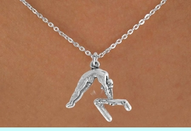 """<bR>                 EXCLUSIVELY OURS!!<Br>           AN ALLAN ROBIN DESIGN!!<BR>  CLICK HERE TO SEE 120+ EXCITING<BR>     CHANGES THAT YOU CAN MAKE!<BR>                LEAD & NICKEL FREE!!<BR>   W744SN - """"GYMNAST ON  BAR"""" &<BR>     NECKLACE FROM $4.50 TO $8.35<BR>                             �2008"""