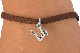 """<bR>                 EXCLUSIVELY OURS!!<Br>           AN ALLAN ROBIN DESIGN!!<BR>  CLICK HERE TO SEE 120+ EXCITING<BR>     CHANGES THAT YOU CAN MAKE!<BR>                LEAD & NICKEL FREE!!<BR> W746SB - """"SWINGING GYMNAST"""" &<Br>      BRACELET FROM $4.50 TO $8.35"""