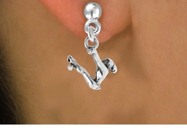 "<bR>                 EXCLUSIVELY OURS!!<Br>           AN ALLAN ROBIN DESIGN!!<BR>  CLICK HERE TO SEE 120+ EXCITING<BR>     CHANGES THAT YOU CAN MAKE!<BR>                LEAD & NICKEL FREE!!<BR>W746SE - ""SWINGING GYMNAST"" &<BR>     EARRINGS FROM $4.50 TO $8.35"