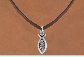 """<bR>                 EXCLUSIVELY OURS!!<Br>           AN ALLAN ROBIN DESIGN!!<BR>  CLICK HERE TO SEE 120+ EXCITING<BR>     CHANGES THAT YOU CAN MAKE!<BR>                LEAD & NICKEL FREE!!<BR>            W747SN - """"JESUS"""" FISH &<BR>     NECKLACE FROM $4.50 TO $8.35"""