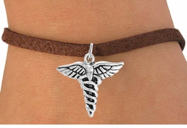 <bR>                 EXCLUSIVELY OURS!!<Br>           AN ALLAN ROBIN DESIGN!!<BR>  CLICK HERE TO SEE 120+ EXCITING<BR>     CHANGES THAT YOU CAN MAKE!<BR>                LEAD & NICKEL FREE!!<BR>     W749SB - CADUCEUS CHARM &<Br>     BRACELET FROM $4.50 TO $8.35