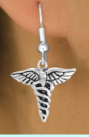 <bR>                 EXCLUSIVELY OURS!!<Br>           AN ALLAN ROBIN DESIGN!!<BR>  CLICK HERE TO SEE 120+ EXCITING<BR>     CHANGES THAT YOU CAN MAKE!<BR>                LEAD & NICKEL FREE!!<BR>      W749SE - CADUCEUS CHARM &<BR>     EARRINGS FROM $4.50 TO $8.35