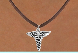 <bR>                 EXCLUSIVELY OURS!!<Br>           AN ALLAN ROBIN DESIGN!!<BR>  CLICK HERE TO SEE 120+ EXCITING<BR>     CHANGES THAT YOU CAN MAKE!<BR>                LEAD & NICKEL FREE!!<BR>     W749SN - CADUCEUS CHARM &<BR>     NECKLACE FROM $4.50 TO $8.35
