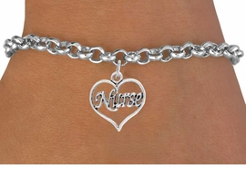 "<bR>                 EXCLUSIVELY OURS!!<Br>           AN ALLAN ROBIN DESIGN!!<BR>  CLICK HERE TO SEE 120+ EXCITING<BR>     CHANGES THAT YOU CAN MAKE!<BR>                LEAD & NICKEL FREE!!<BR>        W750SB - ""NURSE"" HEART &<Br>     BRACELET FROM $4.50 TO $8.35"