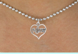 """<bR>                 EXCLUSIVELY OURS!!<Br>           AN ALLAN ROBIN DESIGN!!<BR>  CLICK HERE TO SEE 120+ EXCITING<BR>     CHANGES THAT YOU CAN MAKE!<BR>                LEAD & NICKEL FREE!!<BR>        W750SN - """"NURSE"""" HEART &<BR>     NECKLACE FROM $4.50 TO $8.35"""