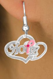 "<bR>                   EXCLUSIVELY OURS!!<BR>            AN ALLAN ROBIN DESIGN!!<BR>   CLICK HERE TO SEE 120+ EXCITING<BR>      CHANGES THAT YOU CAN MAKE!<BR>                 LEAD & NICKEL FREE!!<BR> W818SE - ""HOPE"" PINK AWARENESS<BR>RIBBON AND DOUBLE-HEART CHARM<Br>   & EARRINGS FROM $4.50 TO $8.35"