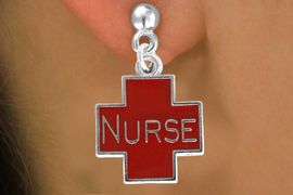 <bR>               EXCLUSIVELY OURS!!<Br>         AN ALLAN ROBIN DESIGN!!<BR>CLICK HERE TO SEE 120+ EXCITING<BR>   CHANGES THAT YOU CAN MAKE!<BR>               LEAD & NICKEL FREE!!<BR>  W820SE - RED CROSS NURSE<Br>  EARRINGS FROM $4.50 TO $8.35