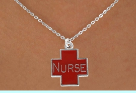 <bR>                     EXCLUSIVELY OURS!!<Br>               AN ALLAN ROBIN DESIGN!!<BR>      CLICK HERE TO SEE 120+ EXCITING<BR>         CHANGES THAT YOU CAN MAKE!<BR>                    LEAD & NICKEL FREE!!<BR>W820SN - RED CROSS NURSE CHARM <Br>      & NECKLACE FROM $4.80 TO $8.25