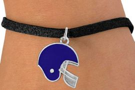 <bR>                EXCLUSIVELY OURS!!<Br>          AN ALLAN ROBIN DESIGN!!<BR> CLICK HERE TO SEE 120+ EXCITING<BR>    CHANGES THAT YOU CAN MAKE!<BR>               LEAD & NICKEL FREE!!<BR>W821SB - BLUE FOOTBALL HELMET<Br>  & BRACELET FROM $4.50 TO $8.35
