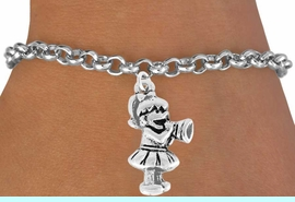 <bR>               EXCLUSIVELY OURS!!<Br>         AN ALLAN ROBIN DESIGN!!<BR>CLICK HERE TO SEE 120+ EXCITING<BR>   CHANGES THAT YOU CAN MAKE!<BR>               LEAD & NICKEL FREE!!<BR>W824SB - LITTLE GIRL CHEERLEADER<Br>    BRACELET FROM $4.50 TO $8.35