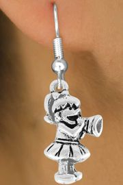 <bR>               EXCLUSIVELY OURS!!<Br>         AN ALLAN ROBIN DESIGN!!<BR>CLICK HERE TO SEE 120+ EXCITING<BR>   CHANGES THAT YOU CAN MAKE!<BR>               LEAD & NICKEL FREE!!<BR>W824SE -LITTLE GIRL CHEERLEADER<Br>  EARRINGS FROM $4.50 TO $8.35