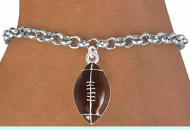 <bR>               EXCLUSIVELY OURS!!<Br>         AN ALLAN ROBIN DESIGN!!<BR>CLICK HERE TO SEE 120+ EXCITING<BR>   CHANGES THAT YOU CAN MAKE!<BR>               LEAD & NICKEL FREE!!<BR>               W825SB - FOOTBALL<Br>    BRACELET FROM $4.50 TO $8.35