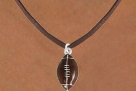 <bR>               EXCLUSIVELY OURS!!<Br>         AN ALLAN ROBIN DESIGN!!<BR>CLICK HERE TO SEE 120+ EXCITING<BR>   CHANGES THAT YOU CAN MAKE!<BR>               LEAD & NICKEL FREE!!<BR>             W825SN - FOOTBALL<Br>   NECKLACE FROM $4.50 TO $8.35