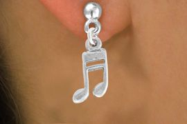 <bR>               EXCLUSIVELY OURS!!<Br>         AN ALLAN ROBIN DESIGN!!<BR>CLICK HERE TO SEE 120+ EXCITING<BR>   CHANGES THAT YOU CAN MAKE!<BR>               LEAD & NICKEL FREE!!<BR>           W827SE -MUSIC NOTE<Br>  EARRINGS FROM $4.50 TO $8.35