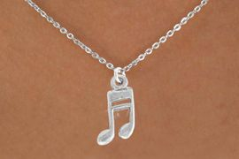 <bR>               EXCLUSIVELY OURS!!<Br>         AN ALLAN ROBIN DESIGN!!<BR>CLICK HERE TO SEE 120+ EXCITING<BR>   CHANGES THAT YOU CAN MAKE!<BR>               LEAD & NICKEL FREE!!<BR>           W827SN - MUSIC NOTE<Br>   NECKLACE FROM $4.50 TO $8.35