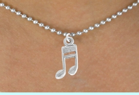 <bR>               EXCLUSIVELY OURS!!<Br>         AN ALLAN ROBIN DESIGN!!<BR>CLICK HERE TO SEE 120+ EXCITING<BR>   CHANGES THAT YOU CAN MAKE!<BR>               LEAD & NICKEL FREE!!<BR>           W827SN - MUSIC NOTE<Br>   NECKLACE FROM $4.05 TO $7.50