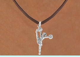 """<bR>                  EXCLUSIVELY OURS!!<Br>            AN ALLAN ROBIN DESIGN!!<BR>   CLICK HERE TO SEE 120+ EXCITING<BR>      CHANGES THAT YOU CAN MAKE!<BR>                 LEAD & NICKEL FREE!!<BR>W833SN - """"HIGH-KICK CHEERLEADER""""<Br>       NECKLACE FROM $4.50 TO $8.35"""