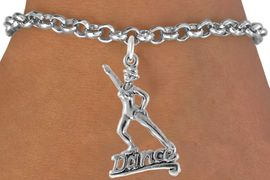 """<bR>                  EXCLUSIVELY OURS!!<Br>            AN ALLAN ROBIN DESIGN!!<BR>   CLICK HERE TO SEE 1600+ EXCITING<BR>      CHANGES THAT YOU CAN MAKE!<BR>    LEAD, CADMIUM,  & NICKEL FREE!!<BR>          W834SB - """"DANCE"""" CHARM<Br>      BRACELET FROM $4.50 TO $8.35<BR>                            &#169;2011"""