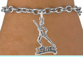 """<bR>                  EXCLUSIVELY OURS!!<Br>            AN ALLAN ROBIN DESIGN!!<BR>   CLICK HERE TO SEE 120+ EXCITING<BR>      CHANGES THAT YOU CAN MAKE!<BR>                 LEAD & NICKEL FREE!!<BR>          W834SB - """"DANCE"""" CHARM<Br>      BRACELET FROM $4.50 TO $8.35"""
