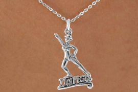 "<bR>               EXCLUSIVELY OURS!!<Br>         AN ALLAN ROBIN DESIGN!!<BR>CLICK HERE TO SEE 120+ EXCITING<BR>   CHANGES THAT YOU CAN MAKE!<BR>              LEAD & NICKEL FREE!!<BR>       W834SN - ""DANCE"" CHARM<Br>   NECKLACE FROM $4.50 TO $8.35"