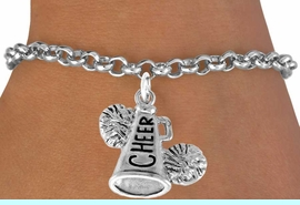 """<bR>                  EXCLUSIVELY OURS!!<Br>            AN ALLAN ROBIN DESIGN!!<BR>   CLICK HERE TO SEE 120+ EXCITING<BR>      CHANGES THAT YOU CAN MAKE!<BR>                 LEAD & NICKEL FREE!!<BR>     W835SB2 - """"CHEER"""" MEGAPHONE<Br>            BRACELET  $8.38 EACH"""