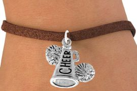 "<bR>                  EXCLUSIVELY OURS!!<Br>            AN ALLAN ROBIN DESIGN!!<BR>   CLICK HERE TO SEE 120+ EXCITING<BR>      CHANGES THAT YOU CAN MAKE!<BR>                 LEAD & NICKEL FREE!!<BR>     W835SB4 - ""CHEER"" MEGAPHONE<Br>               BRACELET  $8.38 EACH"