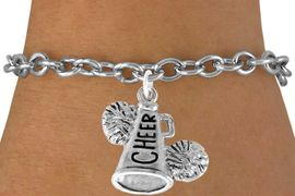 "<bR>                  EXCLUSIVELY OURS!!<Br>            AN ALLAN ROBIN DESIGN!!<BR>   CLICK HERE TO SEE 120+ EXCITING<BR>      CHANGES THAT YOU CAN MAKE!<BR>                 LEAD & NICKEL FREE!!<BR>     W835SB - ""CHEER"" MEGAPHONE<Br>               BRACELET $8.38 EACH"