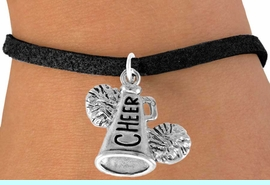 """<bR>                  EXCLUSIVELY OURS!!<Br>            AN ALLAN ROBIN DESIGN!!<BR>   CLICK HERE TO SEE 120+ EXCITING<BR>      CHANGES THAT YOU CAN MAKE!<BR>                 LEAD & NICKEL FREE!!<BR>     W835SB3 - """"CHEER"""" MEGAPHONE<Br>                  BRACELET  $8.38 EACH"""