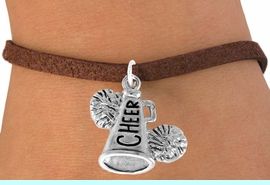 """<bR>                  EXCLUSIVELY OURS!!<Br>            AN ALLAN ROBIN DESIGN!!<BR>   CLICK HERE TO SEE 120+ EXCITING<BR>      CHANGES THAT YOU CAN MAKE!<BR>                 LEAD & NICKEL FREE!!<BR>     W835SB4 - """"CHEER"""" MEGAPHONE<Br>               BRACELET  $8.38 EACH"""