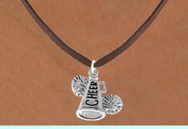 """<bR>               EXCLUSIVELY OURS!!<Br>         AN ALLAN ROBIN DESIGN!!<BR>CLICK HERE TO SEE 120+ EXCITING<BR>   CHANGES THAT YOU CAN MAKE!<BR>              LEAD & NICKEL FREE!!<BR>   W835SN - """"CHEER"""" MEGAPHONE<Br>   NECKLACE FROM $4.50 TO $8.35"""