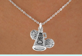 """<bR>               EXCLUSIVELY OURS!!<Br>         AN ALLAN ROBIN DESIGN!!<BR>CLICK HERE TO SEE 120+ EXCITING<BR>   CHANGES THAT YOU CAN MAKE!<BR>              LEAD & NICKEL FREE!!<BR>   W835SN - """"CHEER"""" MEGAPHONE<Br>   NECKLACE FROM $4.50 TO $8.35<BR>                               �2011"""
