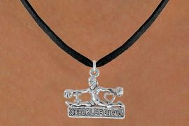 "<bR>               EXCLUSIVELY OURS!!<Br>         AN ALLAN ROBIN DESIGN!!<BR>CLICK HERE TO SEE 120+ EXCITING<BR>   CHANGES THAT YOU CAN MAKE!<BR>              LEAD & NICKEL FREE!!<BR>  W837SN - ""I LOVE CHEERLEADING""<Br> CHARM NECKLACE FROM $4.50 TO $8.35"