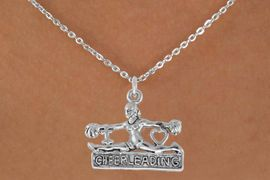 "<bR>               EXCLUSIVELY OURS!!<Br>         AN ALLAN ROBIN DESIGN!!<BR>CLICK HERE TO SEE 120+ EXCITING<BR>   CHANGES THAT YOU CAN MAKE!<BR>              LEAD & NICKEL FREE!!<BR>  W837SN - ""I LOVE CHEERLEADING""<Br> CHARM NECKLACE FROM $4.50 TO $8.35<BR>                               �2011"