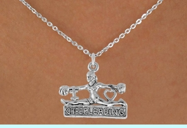 """<bR>               EXCLUSIVELY OURS!!<Br>         AN ALLAN ROBIN DESIGN!!<BR>CLICK HERE TO SEE 120+ EXCITING<BR>   CHANGES THAT YOU CAN MAKE!<BR>              LEAD & NICKEL FREE!!<BR>  W837SN - """"I LOVE CHEERLEADING""""<Br> CHARM NECKLACE FROM $4.50 TO $8.35<BR>                               �2011"""