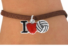 "<bR>               EXCLUSIVELY OURS!!<BR>         AN ALLAN ROBIN DESIGN!!<BR>CLICK HERE TO SEE 120+ EXCITING<BR>   CHANGES THAT YOU CAN MAKE!<BR>              LEAD & NICKEL FREE!!<BR>  W842SB - ""I LOVE VOLLEYBALL""<Br>  BRACELET FROM $4.50 TO $8.35<BR>                              &#169;2011"