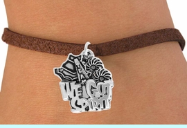 """<bR>               EXCLUSIVELY OURS!!<BR>         AN ALLAN ROBIN DESIGN!!<BR>CLICK HERE TO SEE 120+ EXCITING<BR>   CHANGES THAT YOU CAN MAKE!<BR>              LEAD & NICKEL FREE!!<BR>    W843SB - """"WE'VE GOT SPIRIT""""<Br>  BRACELET FROM $4.50 TO $8.35"""