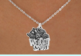 """<bR>               EXCLUSIVELY OURS!!<BR>         AN ALLAN ROBIN DESIGN!!<BR>CLICK HERE TO SEE 120+ EXCITING<BR>   CHANGES THAT YOU CAN MAKE!<BR>              LEAD & NICKEL FREE!!<BR>     W843SN - """"WE'VE GOT SPIRIT""""<Br>  NECKLACE FROM $4.50 TO $8.35<br>                              �2011"""