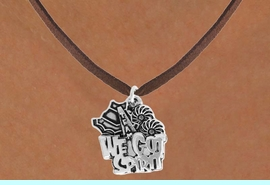 """<bR>               EXCLUSIVELY OURS!!<BR>         AN ALLAN ROBIN DESIGN!!<BR>CLICK HERE TO SEE 120+ EXCITING<BR>   CHANGES THAT YOU CAN MAKE!<BR>              LEAD & NICKEL FREE!!<BR>     W843SN - """"WE'VE GOT SPIRIT""""<Br>  NECKLACE FROM $4.50 TO $8.35"""