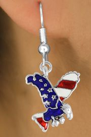 <bR>               EXCLUSIVELY OURS!!<Br>         AN ALLAN ROBIN DESIGN!!<BR>CLICK HERE TO SEE 120+ EXCITING<BR>   CHANGES THAT YOU CAN MAKE!<BR> W726SE - AMERICAN FLAG EAGLE<Br>  EARRINGS FROM  $4.50 TO $8.35