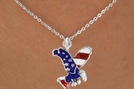 <bR>                EXCLUSIVELY OURS!!<Br>          AN ALLAN ROBIN DESIGN!!<BR>CLICK HERE TO SEE 120+ EXCITING<BR>   CHANGES THAT YOU CAN MAKE!<BR> W726SN - AMERICAN FLAG EAGLE<Br>  NECKLACE FROM  $4.50 TO $8.35