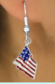 <bR>                 EXCLUSIVELY OURS!!<Br>           AN ALLAN ROBIN DESIGN!!<BR> CLICK HERE TO SEE 120+ EXCITING<BR>    CHANGES THAT YOU CAN MAKE!<BR> W727SE - AMERICAN FLAG CHARM<Br>  EARRINGS FROM  $4.50 TO $8.35