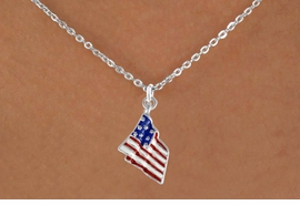 <bR>                EXCLUSIVELY OURS!!<Br>          AN ALLAN ROBIN DESIGN!!<BR>CLICK HERE TO SEE 120+ EXCITING<BR>   CHANGES THAT YOU CAN MAKE!<BR>W727SN - AMERICAN FLAG CHARM<Br>  NECKLACE FROM  $4.50 TO $8.35