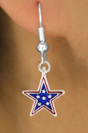 """<bR>               EXCLUSIVELY OURS!!<Br>         AN ALLAN ROBIN DESIGN!!<BR>CLICK HERE TO SEE 120+ EXCITING<BR>   CHANGES THAT YOU CAN MAKE!<BR>W730SE - BLUE """"PATRIOTIC STAR""""<Br>        CHARM & EARRINGS FROM<Br>                    $4.50 TO $8.35"""