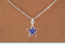 "<bR>               EXCLUSIVELY OURS!!<Br>         AN ALLAN ROBIN DESIGN!!<BR>CLICK HERE TO SEE 120+ EXCITING<BR>   CHANGES THAT YOU CAN MAKE!<BR> W730SN - BLUE ""PATRIOTIC STAR""<Br>        CHARM & NECKLACE FROM<Br>                      $4.50 TO $8.35"